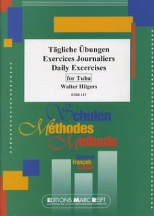 Exercices journaliers - Walter Hilgers - Partition - laflutedepan.com