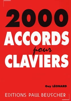 Guy Léonard - 2000 Chords for Keyboards - Sheet Music - di-arezzo.co.uk