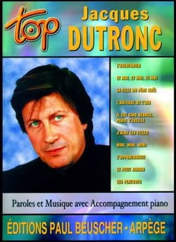 Jacques Dutronc - Top Jacques Dutronc - Partition - di-arezzo.co.uk