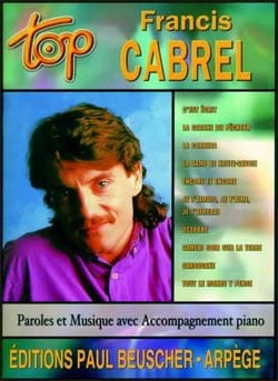 Françis Cabrel - Top Francis Cabrel - Sheet Music - di-arezzo.co.uk
