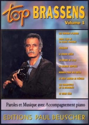 Georges Brassens - Top Brassens Volume 1 - Sheet Music - di-arezzo.co.uk
