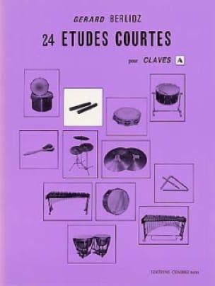 24 Etudes Courtes Volume A BERLIOZ Partition Batterie - laflutedepan