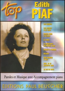 Edith Piaf - Top Edith Piaf - Partition - di-arezzo.fr
