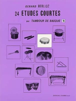 24 Etudes Courtes Volume B BERLIOZ Partition Batterie - laflutedepan