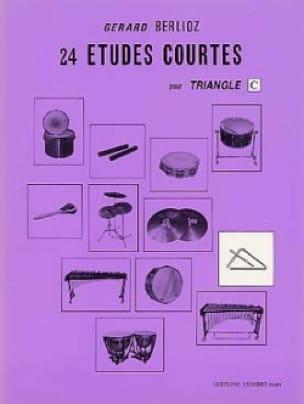 24 Etudes Courtes Volume C BERLIOZ Partition Batterie - laflutedepan