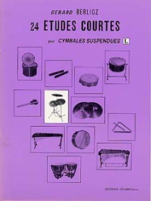 24 Etudes Courtes Volume L BERLIOZ Partition Batterie - laflutedepan