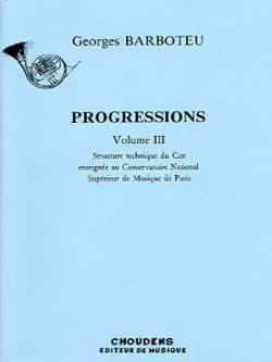 Georges Barboteu - Volume 3 Progressions - Sheet Music - di-arezzo.com