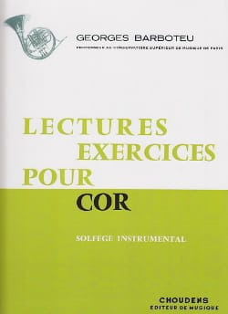 Georges Barboteu - Lectures Exercices Pour Cor - Partition - di-arezzo.fr