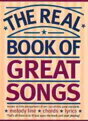 - The real book of great songs - Partition - di-arezzo.fr