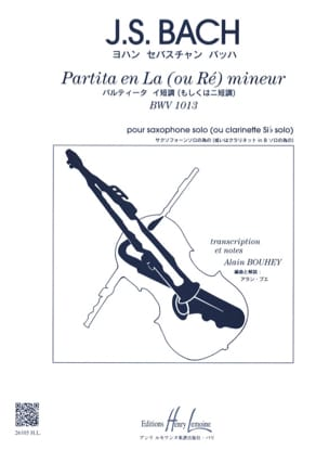 BACH - Partita In The Or D Minor BWV 1013 - Sheet Music - di-arezzo.com