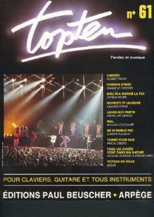 Topten 61 - Partition - Chansons françaises - laflutedepan.com
