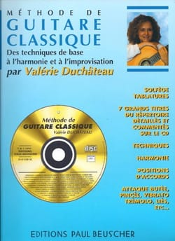 Valérie Duchateau - Classical guitar method - Partition - di-arezzo.co.uk