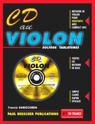 CD Au Violon Francis Darizcuren Partition Violon - laflutedepan