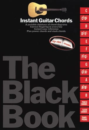 Instant Guitar Chords Black Book - Partition - di-arezzo.fr