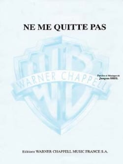 Jacques Brel - Do not leave me - Partition - di-arezzo.com