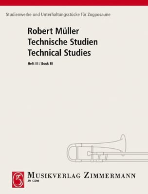 Robert Müller - Technical Studies Volume 3 - Sheet Music - di-arezzo.co.uk