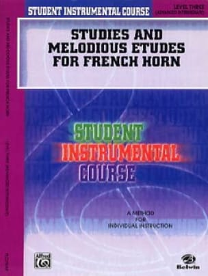 James Ployhar - Studies - melodious and studies for french horn volume 3 - Sheet Music - di-arezzo.co.uk