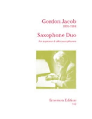Saxophone Duo Gordon Jacob Partition Saxophone - laflutedepan