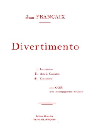 Jean Françaix - Divertimento - Sheet Music - di-arezzo.co.uk