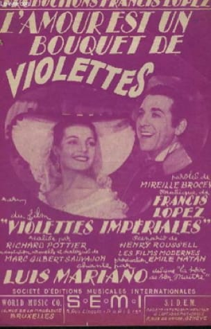 Francis Lopez - Love is a bouquet of violets - Sheet Music - di-arezzo.com