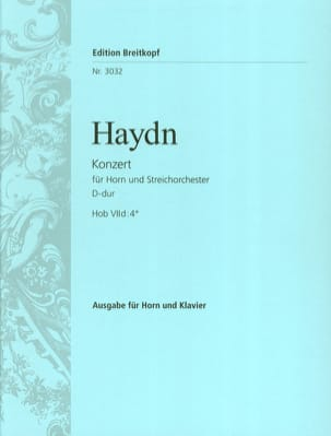 HAYDN - Concierto para trompa N ° 2 en re mayor - Partitura - di-arezzo.es