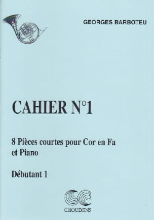 Georges Barboteu - 8 Short Pieces Notebook N ° 1 - Sheet Music - di-arezzo.co.uk