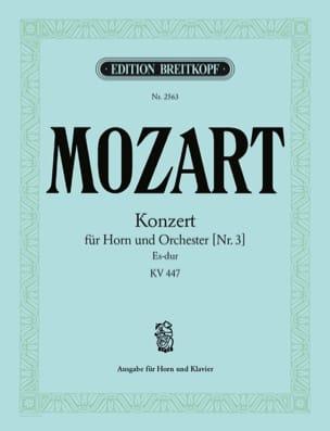 MOZART - Konzert Nr. 3 Es-Dur KV 447 - Partitura - di-arezzo.es
