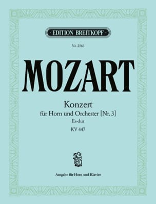 Wolfgang Amadeus Mozart - Konzert Nr. 3 Es-Dur K.V. 447 - Partition - di-arezzo.fr