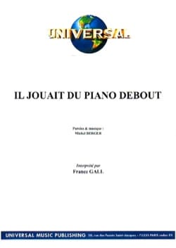 Michel Berger - He was playing the Standing Piano - Sheet Music - di-arezzo.com