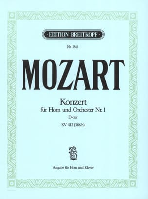 MOZART - Concerto for Horn No. 1 D-Dur KV 412 386b - Sheet Music - di-arezzo.co.uk