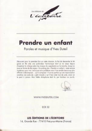 Yves Duteil - Prendre Un Enfant - Partition - di-arezzo.fr
