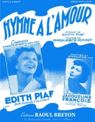 Edith Piaf - Ode to love - Sheet Music - di-arezzo.co.uk