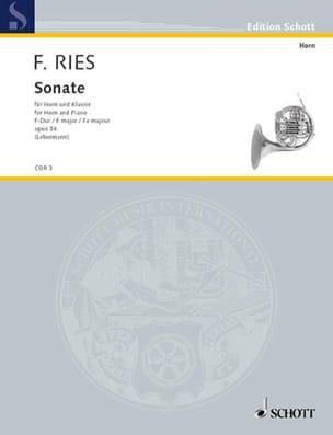 Ferdinand Ries - Sonata In F Major Opus 34 - Sheet Music - di-arezzo.com