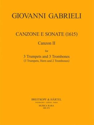 Canzone E Sonate 1615 GABRIELI Partition laflutedepan