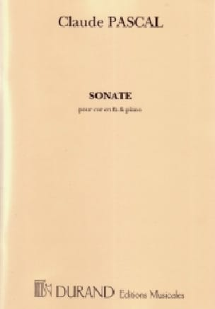 Claude Pascal - Sonate - Partition - di-arezzo.fr