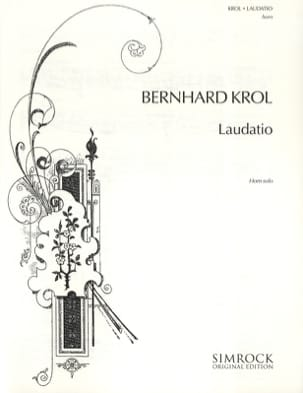 Bernhard Krol - Laudatio - Sheet Music - di-arezzo.co.uk
