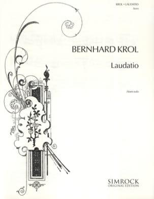 Bernhard Krol - Laudatio - Partition - di-arezzo.fr
