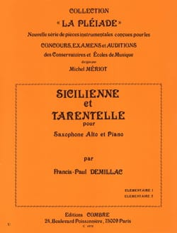 Francis-Paul Demillac - Sicilian And Tarentella - Sheet Music - di-arezzo.com