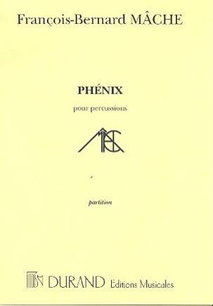 François-Bernard Mâche - Phoenix - Sheet Music - di-arezzo.co.uk