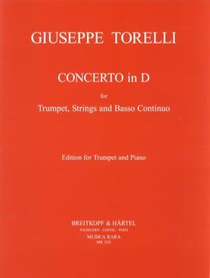 Concerto En Ré pour Trompette TORELLI Partition laflutedepan