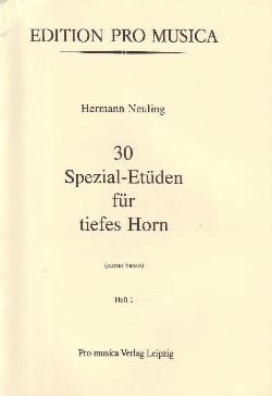 Hermann Neuling - 30 Spezial-Etüden Volume 1 - Sheet Music - di-arezzo.co.uk