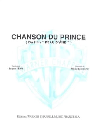 Michel Legrand - Chanson du prince (film Peau d'Ane) - Sheet Music - di-arezzo.co.uk