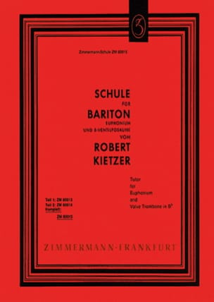 Robert Kietzer - Schule Für Bariton - Sheet Music - di-arezzo.co.uk