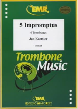 5 Impromptus Jan Koetsier Partition Trombone - laflutedepan