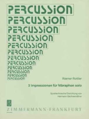 3 Impressionen für Vibraphon solo - Werner Rottler - laflutedepan.com