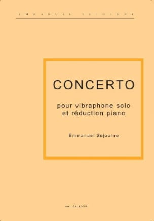 Emmanuel Séjourné - Concerto For Vibraphone And Piano - Sheet Music - di-arezzo.com