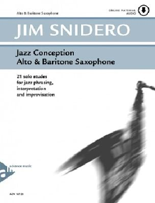 Jim Snidero - Jazz conception - 21 solo etudes - Partition - di-arezzo.fr