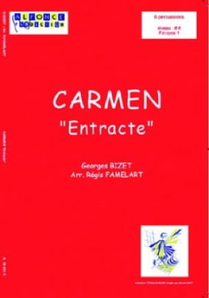 Carmen Entracte BIZET Partition Ensemble de percussions - laflutedepan