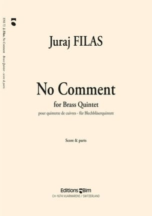 Juraj Filas - No Comment - Partition - di-arezzo.fr