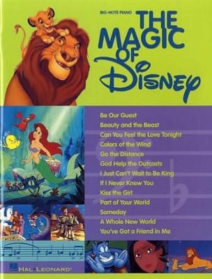 DISNEY - The Magic Of Disney Big-Note Piano - Sheet Music - di-arezzo.com